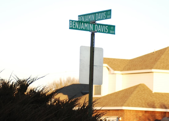 CANNON AIR FORCE BASE, N.M. -- Benjamin Davis Drive in Clovis is named after Air Force General Benjamin O. Davis Jr., who led the Tuskegee Airmen duringWorld War II. (Air Force photo by Greg Allen)