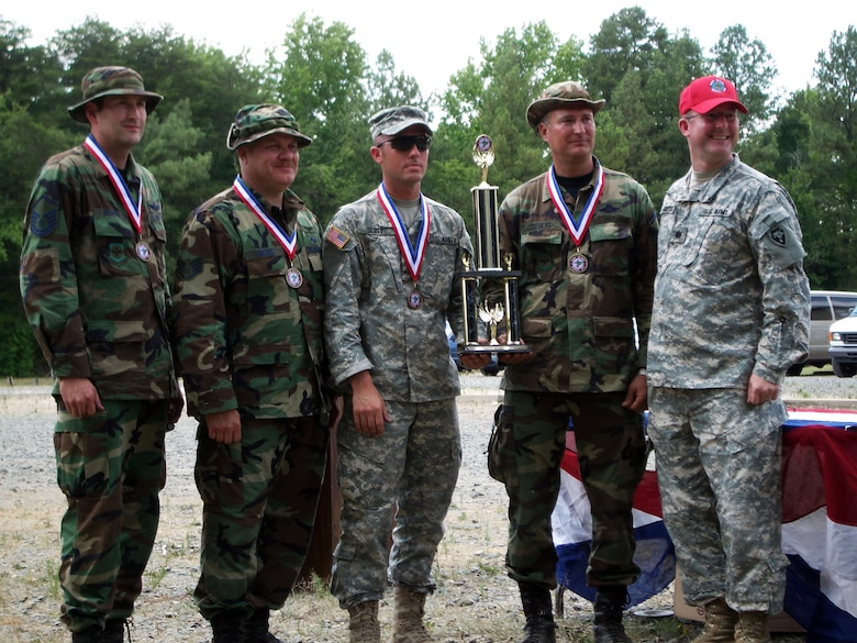 Kentucky Air Guard marksmen continue a long-standing tradition of out-shooting their citizen-Soldier counterparts in state, regional and national competitions. (Photo courtesy of Kentucky Air National Guard Marksmanship Team)