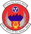 Unit Shield for the 572nd Air Force Band, Air National Guard Band of the Smoky Mountains.  In accordance with Chapter 3 of AFI 84-105, commercial reproduction of this emblem is NOT permitted without the permission of the proponent organizational/unit commander.