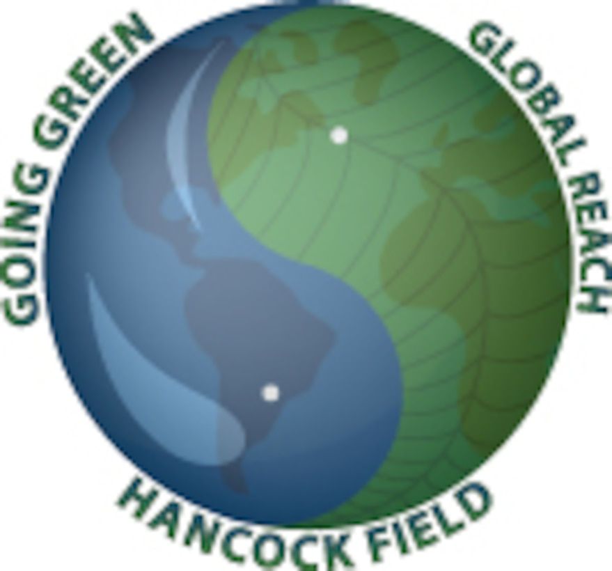 "Hancock Field ""Going Green"" logo will accompany any and all news stories with an environmentally conscious theme."