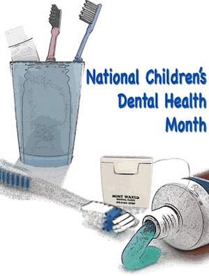 The 42nd Medical Group's dental clinic is targeting education for both parents and children as it prepares for February's National Children's Dental Health Month. (Air Force illustration by Michael Paul)