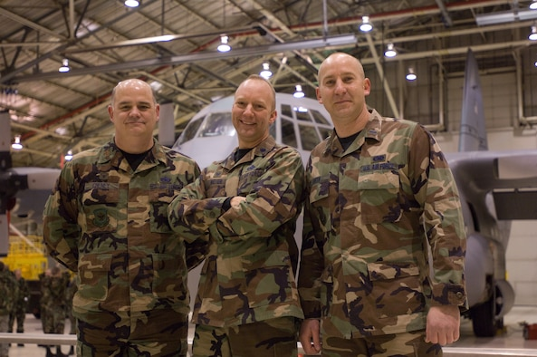 Lt. Col. Andy Halter has been assigned as the Maintenance Group deputy commander.  Assuming command of the Aircraft Maintenance Squadron is Lt. Col. Gordon Meyer and 1st Lt. Tom Orth has taken command of the Maintenance Squadron.  Major Mark Cheney has assumed the role of Maintenance Operations Flight commander. (U.S. Air Force photo by Tech. Sgt. Shannon Bond) (RELEASED)