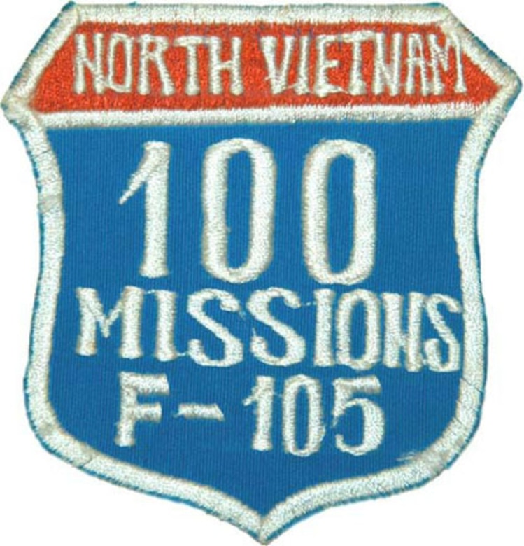 The 100 Missions North Vietnam patch. (U.S. Air Force photo)