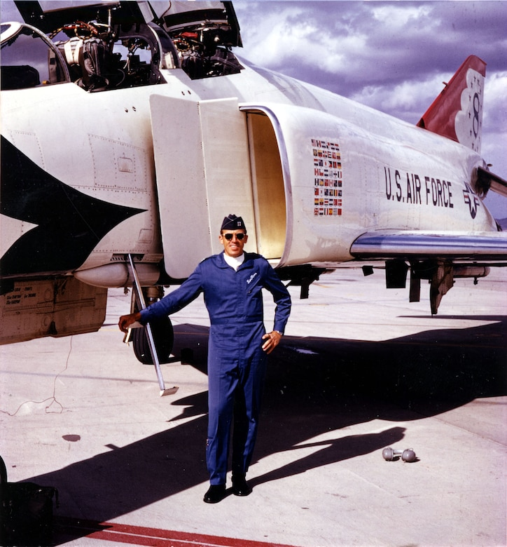 Ironically, Len Moon, a Thunderbuzzard, became one of the Thunderbirds in 1973. (U.S. Air Force photo)