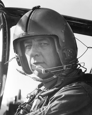 Lt. Col. Jerald Ransom, first 100 North Vietnam A-1 missions. (U.S. Air Force photo)