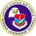 Shield for the Air Force Airman Leadership School.  In accordance with Chapter 3 of AFI 84-105, commercial reproduction of this emblem is NOT permitted without the permission of the proponent organizational/unit commander.