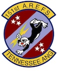 Unit Shield for the 151st Air Refueling Squadron.  In accordance with Chapter 3 of AFI 84-105, commercial reproduction of this emblem is NOT permitted without the permission of the proponent organizational/unit commander.