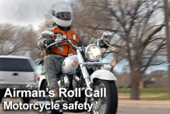 This week's Airman's Roll Call focuses on the spring spike focus. Research conducted by the Air Force Safety Center has shown motorcycle mishaps double in the springtime. (U.S. Air Force photo illustration)