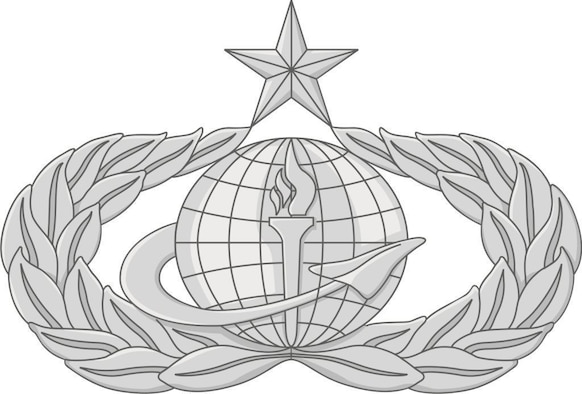The occupational badge for the new 38F Force Support Air Force Specialty Code incorporates the torch from the services badge and the delta from the manpower and personnel badge. Force support officers are now authorized to wear the new badge at the expertise level ? basic, senior (shown) or master - attained in their legacy career field. All FSOs must begin wearing the badge by Aug. 1, 2009. (Graphic by Capt. Thomas Oziemblowsky)