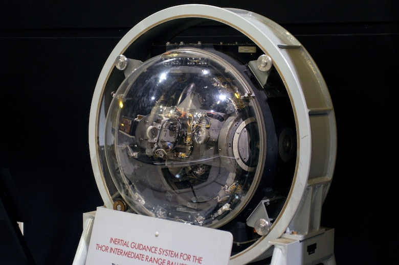 DAYTON, Ohio -- Inertial Guidance System for Thor IRBM exhibit in the Missile and Space Gallery at the National Museum of the United States Air Force. (U.S. Air Force photo)