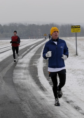 On a blustery morning, December 7th, 70 members of the wing took part in the first of what they hope are many Jingle Bell Runs.