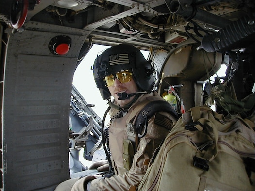 Master Sgt. Robert Dinsmore, an aerial gunner on 66th Rescue Squadron HH-60G Pave Hawk helicopters, served in Afghanistan from February to May 2005 and in Iraq from December 2005 to March 2006. (U.S. Air Force photo)