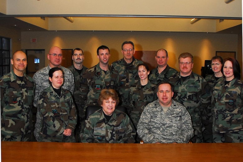 The 174th Fighter Wing Finance Office here won the Financial Services Office of the Year award for the Air National Guard.  The award encompasses the office's support of the Air Expeditionary Force deployments, support of the conversion from the F-16C to the MQ-9 Reaper, the Unit Compliance Inspection (UCI) score for the last inspection, processing pay transactions and customer support over the last fiscal year.  (Photo taken by SSgt Ricky Best, 174th Fighter Wing)