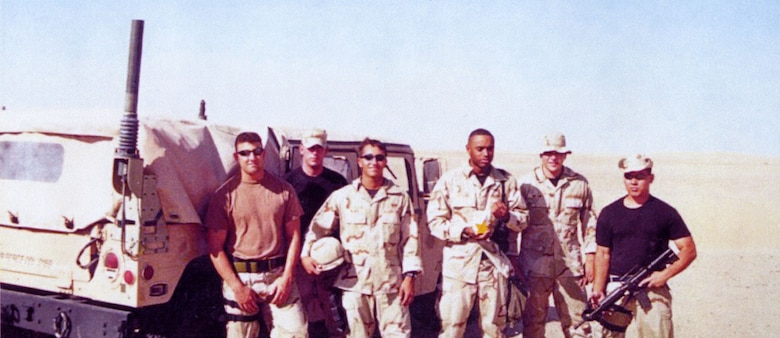 Staff Sgt. Rich Brake (far right) pictured with other TACP personnel of the 332nd Expeditionary Air Support Operations Squadron during Operation Southern Watch in the summer of 2001. (U.S. Air Force photo)