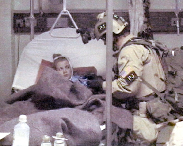 Air Force personnel were in the ground team that rescued Private Jessica Lynch. The first person in the team to reach her was a PJ. (U.S. Air Force photo)