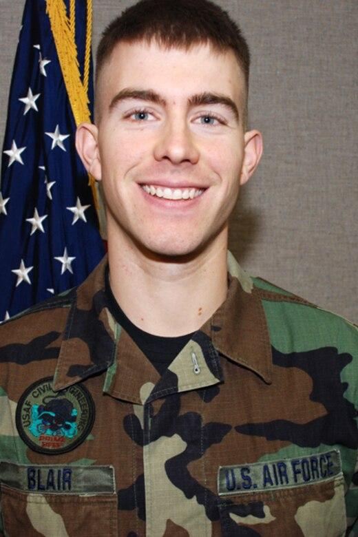 Senior Airman Shawn R. Blair with the 139th Civil Engineering Squadron.