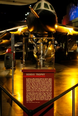 DAYTON, Ohio -- This Bendix Trophy, donated by Robert Sowers of Fort Worth, Texas, is on display in the Cold War Gallery at the National Museum of the United States Air Force. (U.S. Air Force photo)