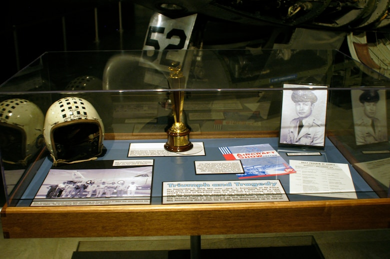 "DAYTON, Ohio -- Maj. John ""Jack"" L. Armstrong exhibit in the Cold War Gallery at the National Museum of the United States Air Force. (U.S. Air Force photo)"
