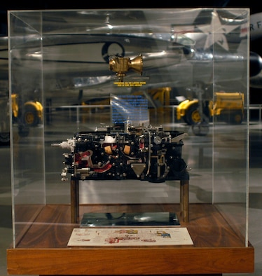 DAYTON, Ohio -- B-36 fuel injection system exhibit in the Cold War Gallery at the National Museum of the United States Air Force. (U.S. Air Force photo)