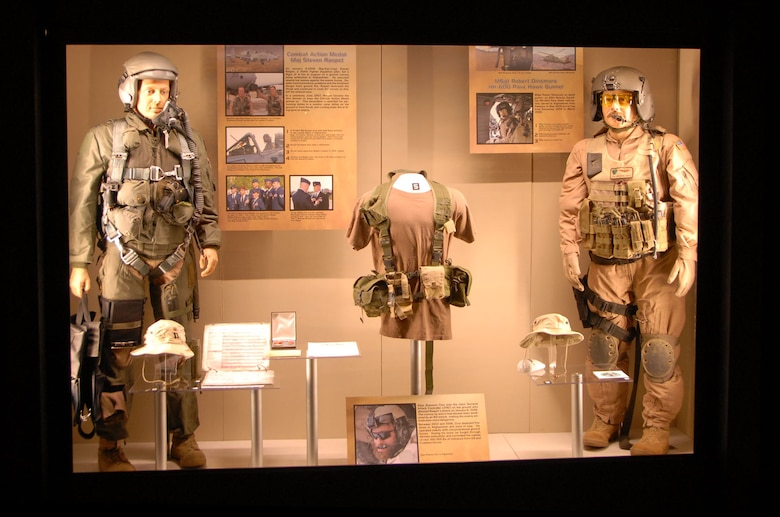 DAYTON, Ohio - A portion of the Warrior Airmen exhibit on display in the Cold War Gallery at the National Museum of the U.S. Air Force. (U.S. Air Force photo)