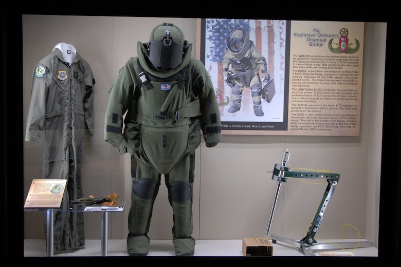 DAYTON, Ohio - The Warrior Airmen exhibit, highlighting EOD, on display in the Cold War Gallery at the National Museum of the U.S. Air Force. (U.S. Air Force photo)