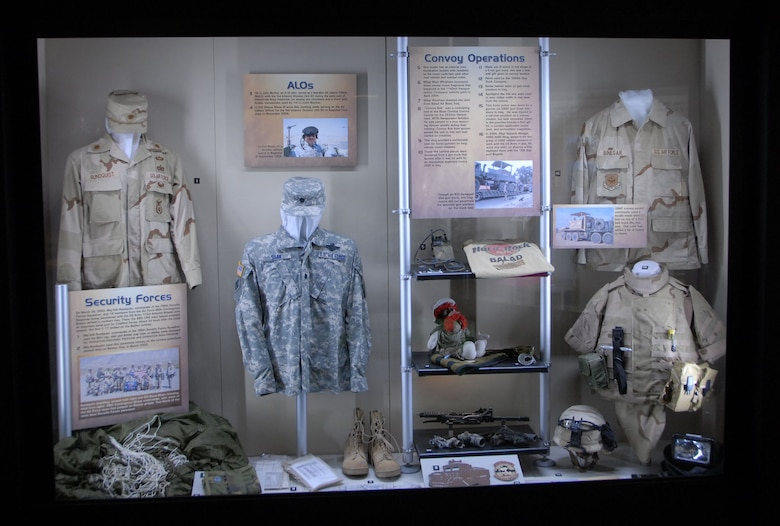 DAYTON, Ohio - The Warrior Airmen exhibit, highlighting Expeditionary Combat Airmen, in the Cold War Gallery at the National Museum of the U.S. Air Force. (U.S. Air Force photo)