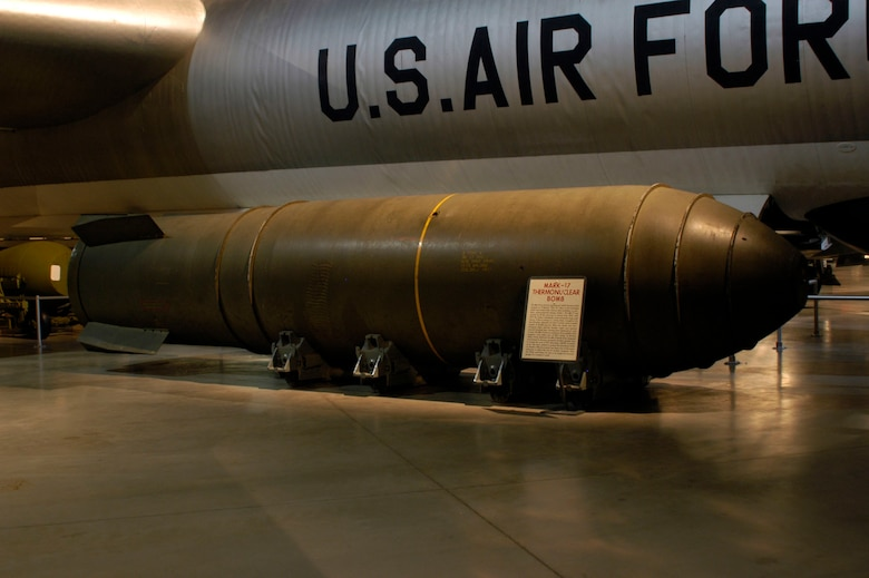 DAYTON, Ohio - The Mark-17 Thermonuclear bomb on display in the Cold War Gallery at the National Museum of the U.S. Air Force. (U.S. Air Force photo)