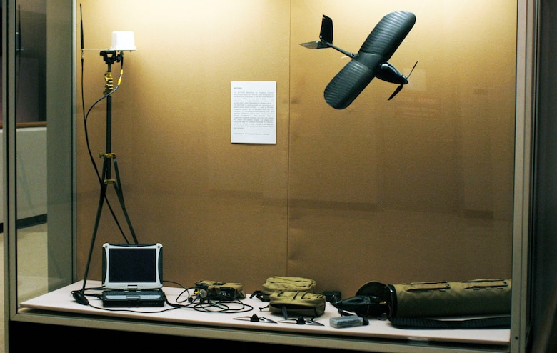 The BATCAM (Battlefield Air Targeting Camera Autonomous Micro-Air Vehicle) was developed by the Munitions Directorate of the Air Force Research Laboratory and first flew in 2003. It was designed as a very light battlefield surveillance UAV for the USAF's BAO (Battlefield Air Operations) kit. (U.S. Air Force photo)