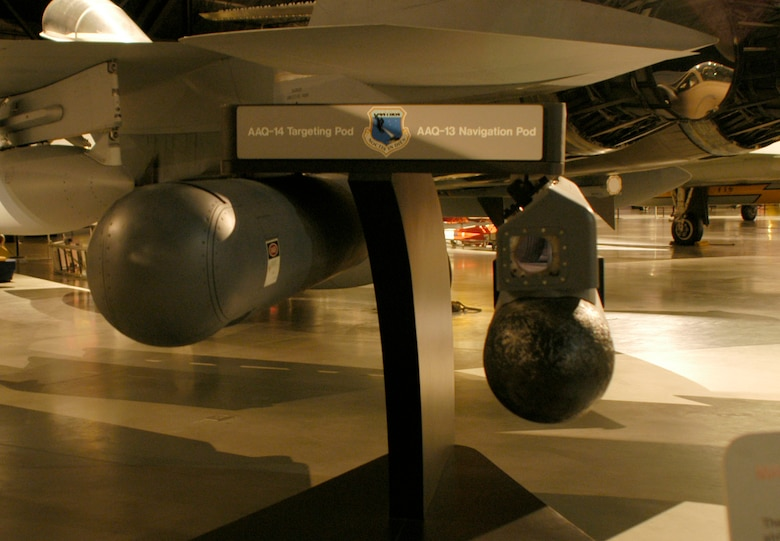 DAYTON, Ohio - The LANTIRN Navigation and Targeting System on display in the Cold War Gallery at the National Museum of the U.S. Air Force. (U.S. Air Force photo)