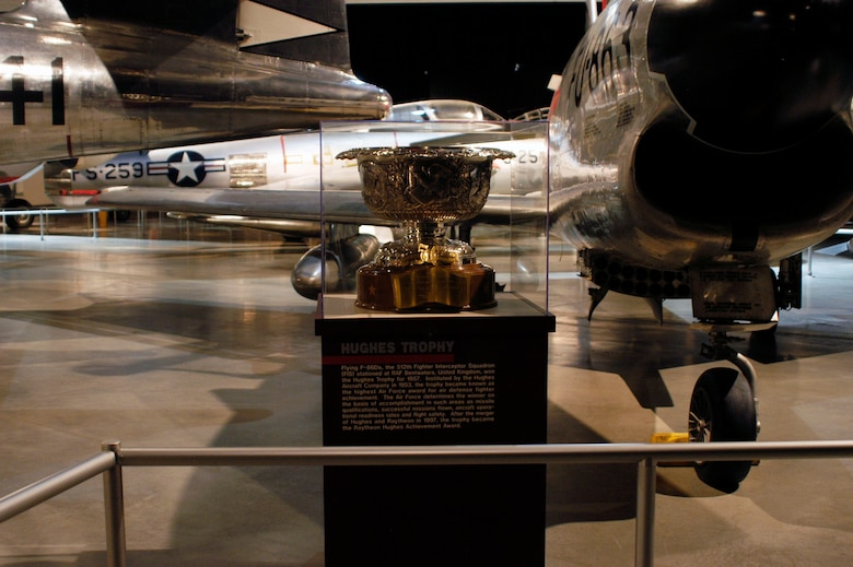 DAYTON, Ohio -- 1957 Hughes Trophy on display in the Cold War Gallery at the National Museum of the United States Air Force. (U.S. Air Force photo)