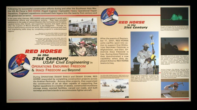 DAYTON, Ohio -- RED HORSE exhibit in the Cold War Gallery at the National Museum of the United States Air Force. (U.S. Air Force photo)