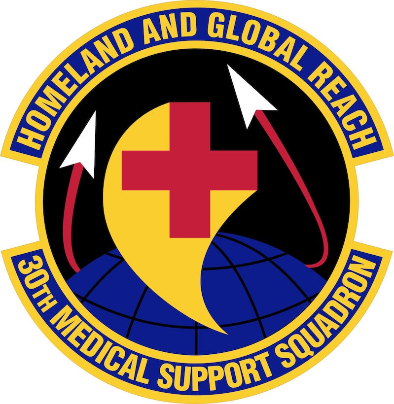 30th Medical Support Squadron emblem