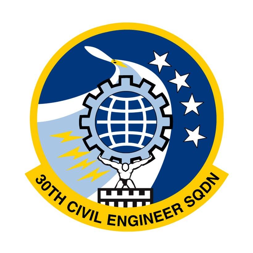 30th Civil Engineer Squadron emblem