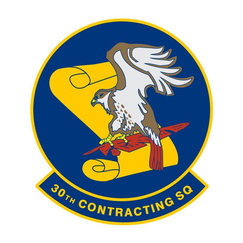 30th Contracting Squadron emblem