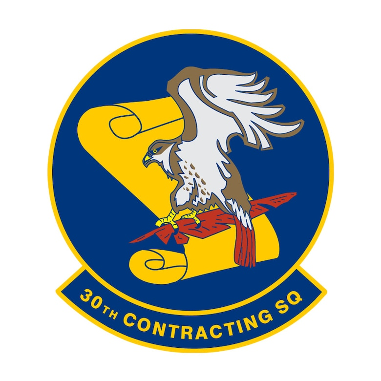 30th Contracting Squadron emblem