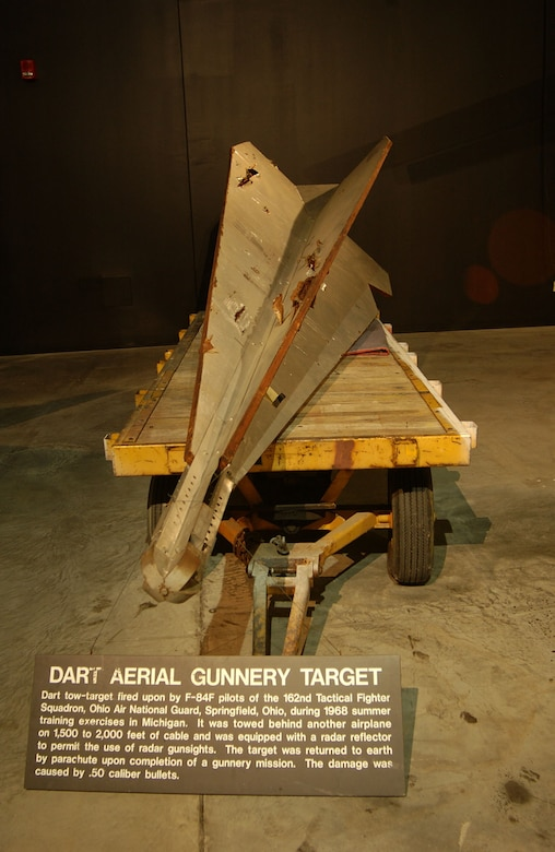 DAYTON, Ohio - The Dart Aerial Gunnery Target on display in the Cold War Gallery at the National Museum of the U.S. Air Force. (U.S. Air Force photo)