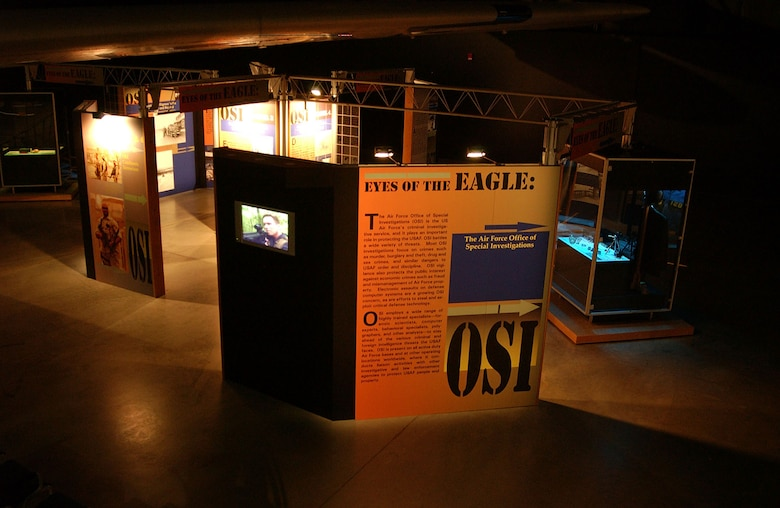 DAYTON, Ohio - The Office of Special Investigations exhibit on display in the Cold War Gallery at the National Museum of the U.S. Air Force. (U.S. Air Force photo)