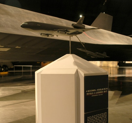 DAYTON, Ohio - Exhibit of a KC-10 refueling the SR-71 on display in the Cold War Gallery at the National Museum of the U.S. Air Force. (U.S. Air Force photo)