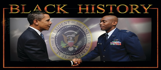 Capt. Toney Collins, 94th Logistics Readiness Squadron, greets then President-Elect Barack Obama early January in Washington D.C. Captain Collins was part of the Armed Forces Inaugural Committee, which coordinated military ceremonial support for the 56th Presidential Inauguration of President Barack Obama. (U.S. Air Force graphic/Tech. Sgt. Bob Martin).