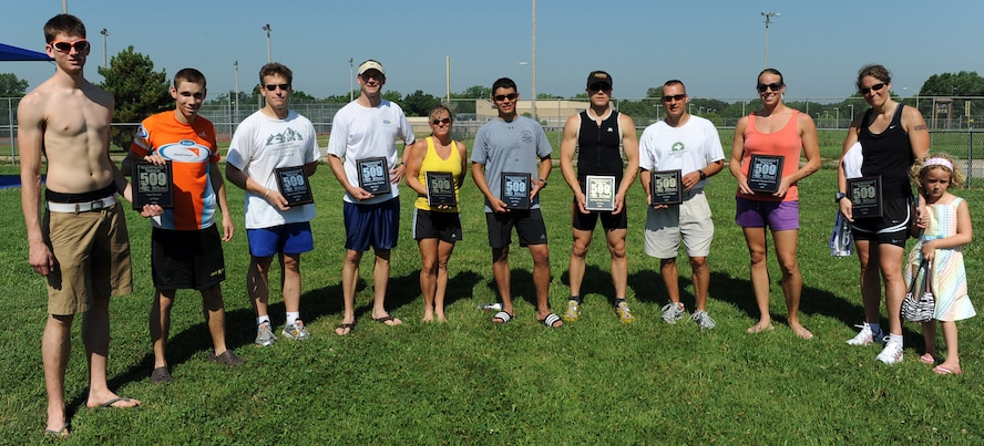 WHITEMAN AIR FORCE BASE, Mo. -  Mr. Paul Basel and 2nd Lt. Benjamin Coffman/1st place Team Category