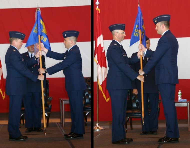 June 30 was a busy day for the 552nd Air Control Wing as they held two official change of command ceremonies. Both the 552nd Operations Support Squadron, and the 552nd Air Control Networks Squadron welcomed new leaders. Photos courtesy of 1st Lt. Kinder Blacke.