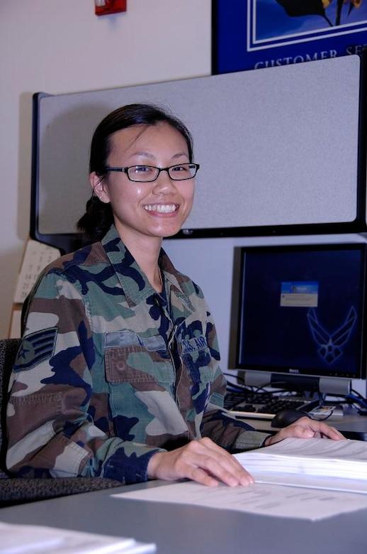 Staff Sgt. Dehua Li, 129th FSS, is this month's Portrait of a Professional. (Air National Guard photo by Tech. Sgt. Ray Aquino)