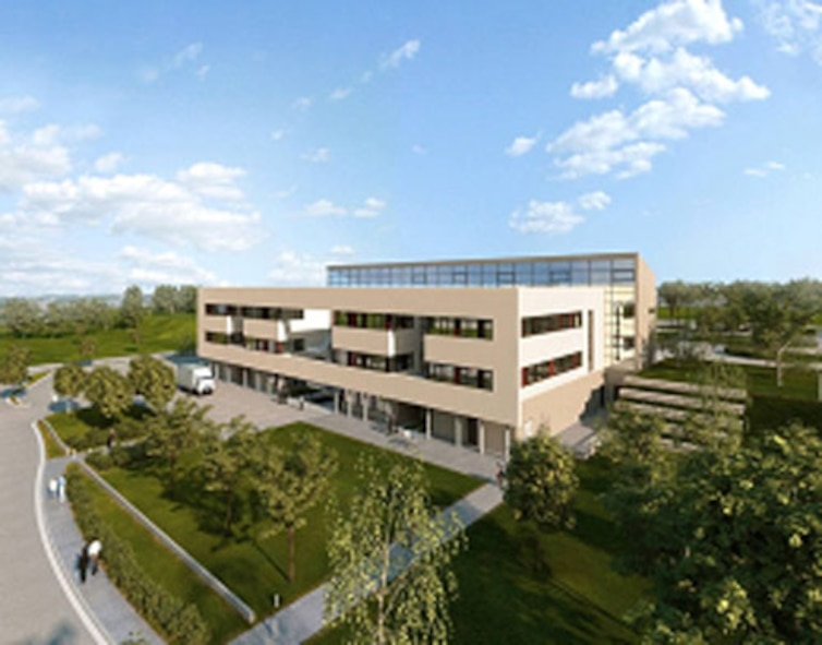 SPANGDAHLEM AIR BASE, Germany -- Saber medics will move into a new 80,000-square-foot clinic projected for completion in 2012. Clinic construction started in November 2008 near the shopette. (Courtesy graphic)