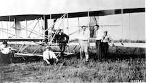 Orville Wright and his students at Montgomery, Alabama, 1910