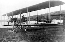 Second tractor type aircraft constructed by Curtiss. The plane, not yet completed, was photographed at the Curtiss Hammondsport factory prior to delivery to Army as S. C. #22