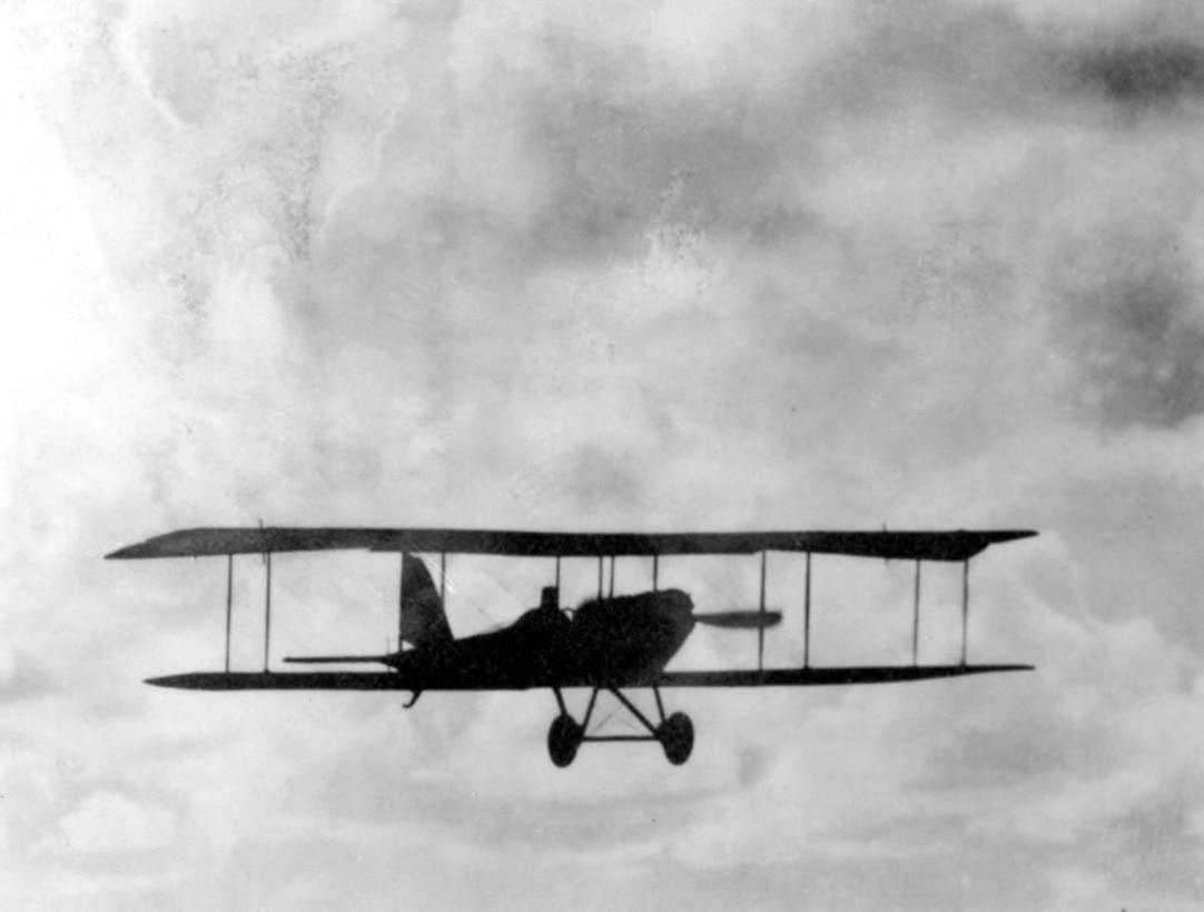 One of the first flights of a Jenny type aircraft at North Island, 1914