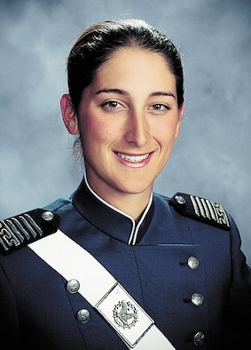 First Lt. Roslyn Schulte, 25, died from wounds suffered from a roadside bomb in Afghanistan May 20. She was a 2006 graduate of the U.S. Air Force Academy in Colorado Springs, Colo., and is seen here in her senior class photo. (U.S. Air Force photo)