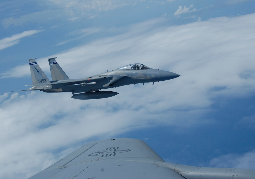 Pilots  from the 125th Fighter Wing, Jacksonville, Fla., Fly a routine training mission on July 10, 2009. (Air National Guard photo by SrA Bryan Yale)