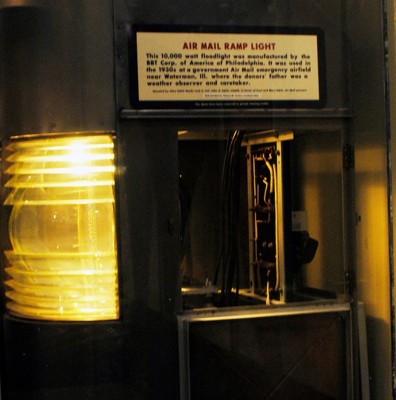 DAYTON, Ohio -- Air Mail Ramp Light exhibit in the Early Years Gallery at the National Museum of the United States Air Force. (U.S. Air Force photo)