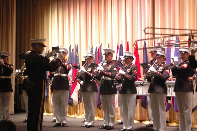 The Quantico Va., Marine Corps Band plays for the NAACP 35th Annual Armed Services and Veterans Affairs Awards Dinner, July 14.